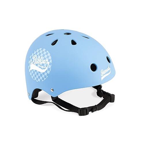 Janod - J03273 - Casque pour Draisienne / Vélo enfant - Bleu à damiers