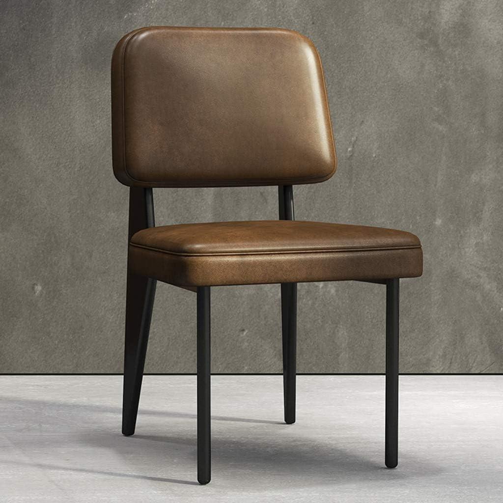 XXT Chaise de salle, Chaise de bureau simple, créative Dossier, Chaise Loisirs, Maison adulte Chaise de salle Durable (Color : Brown) Brown
