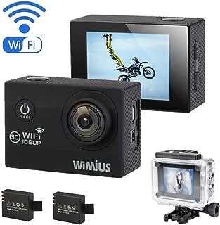 WIMIUS Q2 WIFI フルHD 1080P ウェアラブルカメラ アクションカム 多機能カメラ