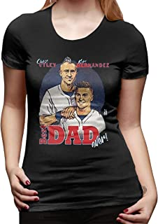 Women's Chase Utley Kike Hernandez Best Dad Ever FatherFunny T-Shirts