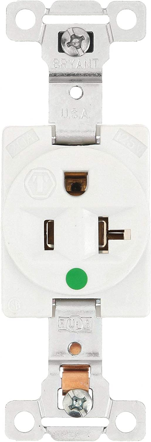 20A Single Receptacle 125VAC 5-20R WH