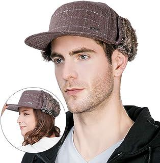 Winter Wool Baseball Cap Earflap Hats Men Soft Faux Fur Hunting Hat Siggi 96fed87ff07f