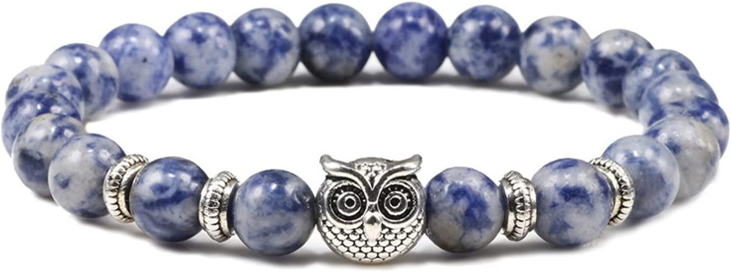 GTHT Men Bracelets Weathered Stone Beads Many popular brands Owl Max 87% OFF Braceles Cha Beaded