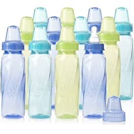 Evenflo Feeding Classic Tinted Plastic Standard Neck Bottles for Baby, Infant and Newborn -...