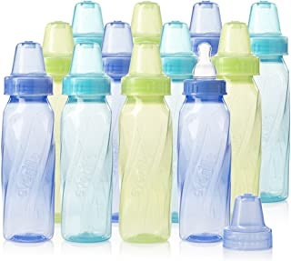 Evenflo Feeding Classic Tinted Plastic Standard Neck Bottles for Baby, Infant and Newborn..