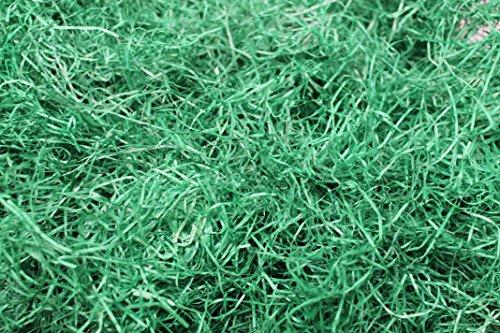 Doubleyou Geovlies & Baustoffe - Erba pasquale decorativa, ad esempio come fondo per le uova, colore verde o naturale, legno, verde, 500 g
