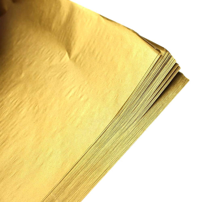 50 Sheets Premium Metallic Gold Tissue Gift Wrap Paper Bulk, 20