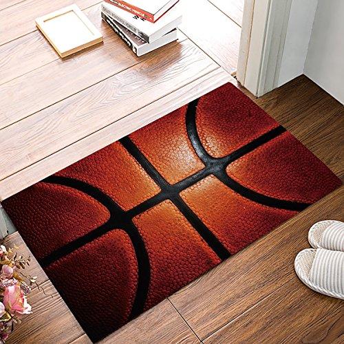 OPLJ Sport Basketball Willkommen Fußmatten Innenküche Boden Badezimmer Eingang Teppich Matte Teppiche Wohnkultur Bad Fußmatten A1 40x120cm