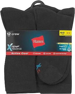 Hanes Men's FreshIQ X-Temp Active Cool Crew Socks, 12-Pack
