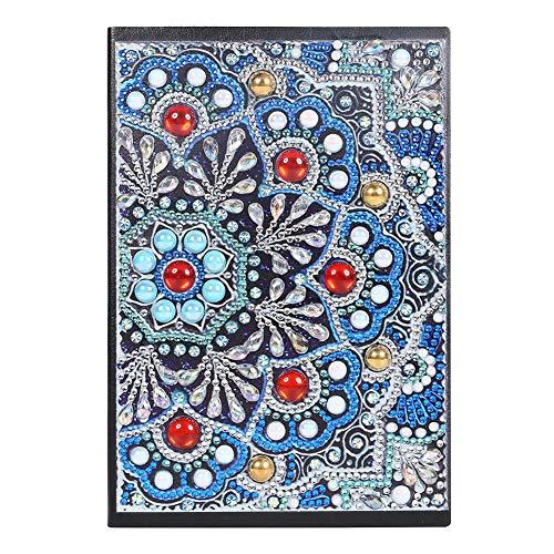 DIY Secret Diamond Painting Art Cover Cuaderno de bocetos creativo Diario Bloc de notas Cuaderno Diario 50 páginas A5 Regalo del día de los niños Mandala Regalo del día del padre