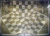 Tablero de ajedrez para 3 Jugadores Colección Ajedrez Señor de los Anillos cartón 60x63 cms