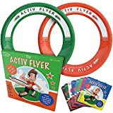 Activ Life Best Kids Ring Flyers [Green/Orange] Play Ultimate Toss Games with Friends and Family Outdoors - Indoor Gym Flying Disc Toys for Top Frisby Golf - Sports Juguetes para Niños Frisbie