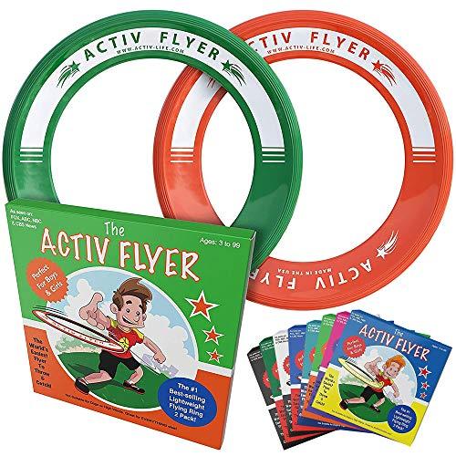 Activ Life Anelli Volanti Migliori per Bambini [Verde/Arancio] Il Giocattolo da Lanciare...