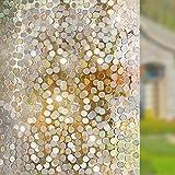 Película de Vidrio electrostática 3D película para Ventanas esmerilada no Adhesiva Redonda película para decoración de Puertas y Ventanas para el hogar N 50x100cm