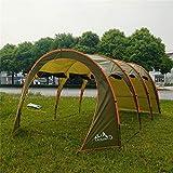 TOPQSC Grande Tente Familiale Multifonctionnel Pliable Abri de Soleil Extérieur Imperméable Tente de Camping 8-10 Personne...