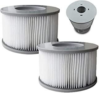 MSpa 2 x Replacement Filter Cartridges Hot Tubs Accessories 90 Pleats Fit Models, White, One Size