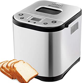 COSTWAY Bread Maker Automatic Programmable Multifunctional Bread Machine with 15 Programs, 3 Loaf Sizes, 3 Crust Colors, 15 Hours Delay Timer, 1 Hour Keep Warm (15 Programs 710W)