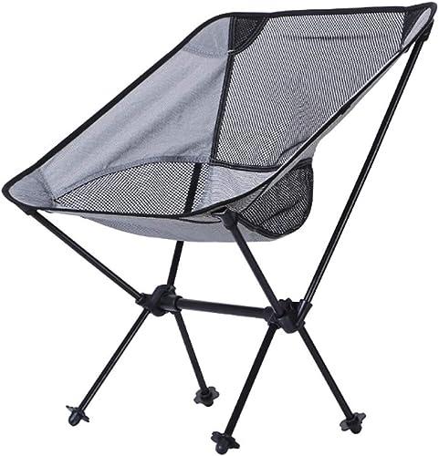 Chaise De Camping,Pliante portable Chaise De Pêche Compact Ultra-légère avec Sac De Transport pour Randonnée, Barbecue, Pique-Nique, Plage, Plein Air, Max Charge 150 Kg