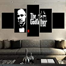 HD print oil painting 5 canvas paintings modern decoration bedroom living room family mural godfather painting
