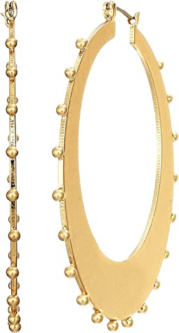 Gold Standard Studded Hoops