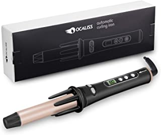 Curling Iron Automatic Hair Curling Wand Hair Curler, Ocaliss Auto Wavy Curling iron 1-inch 30s Instant Ceramic Heat Wand and LCD Temp display Dual Voltage 110&220v