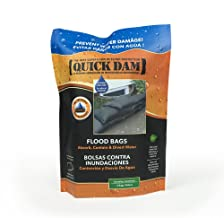 """Quick Dam QD1224-2 Water Activated Flood Bags (2 Pack), 12""""x24"""", Black"""