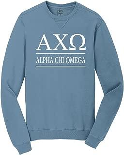Sorority Letters Shop Alpha Chi Omega Vintage Color Crewneck Sweatshirt