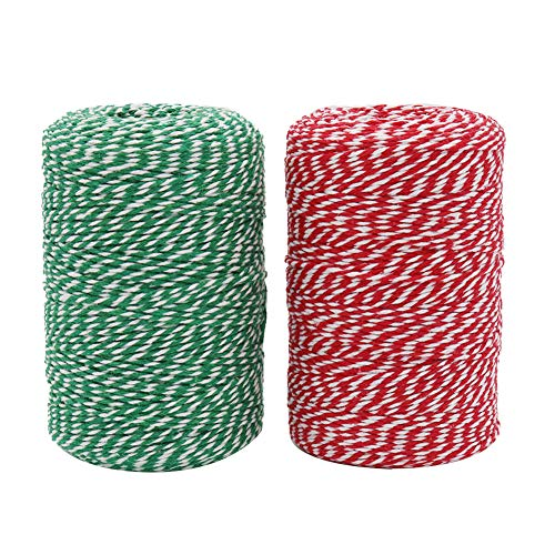 Vivifying Bakers Twine, 656 Feet x 2 Rolls Cotton String for DIY Crafts, Christmas Gift Wrapping