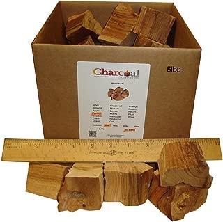 CharcoalStore Apricot Wood Smoking Chunks -No Bark - (5 Pounds)