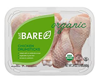 Just BARE Organic Fresh Chicken, Drumsticks, 1.5 lb