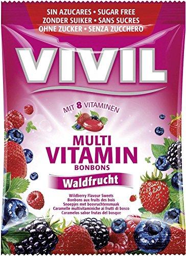 Vivil Multivitamin-Bonbons Waldfrucht zuckerfrei