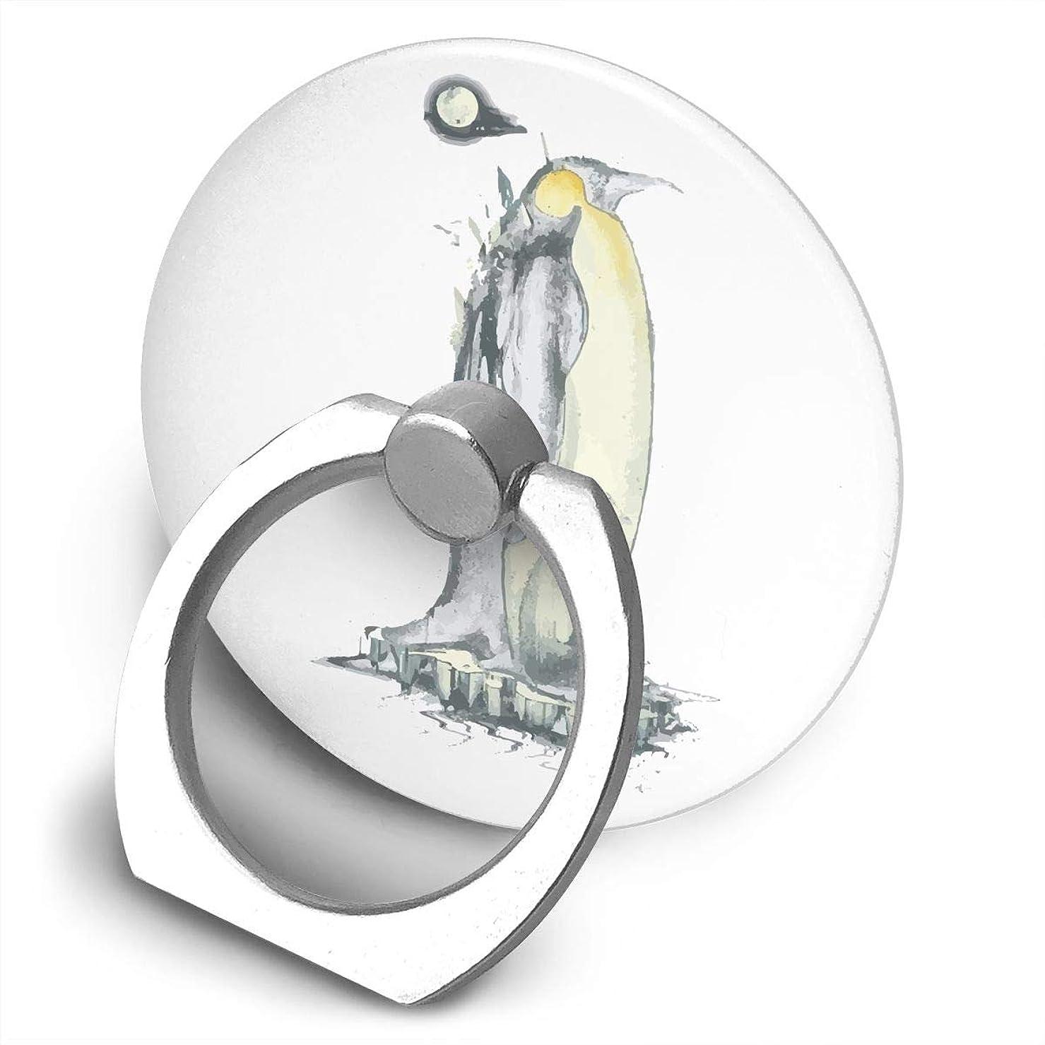 僕の雹軽ペンギン 動物 かわいい スマホ リング ホールドリング 指輪リング 薄型 おしゃれ スタンド機能 落下防止 360度回転 タブレット/スマホ IPhone/Android各種他対応
