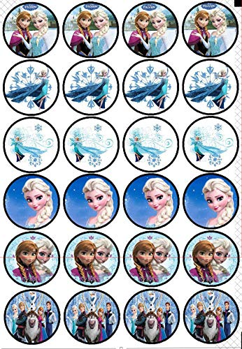 24 Muffin & Cupcake Aufleger Fondant Frozen Die Eiskönigin AMA9