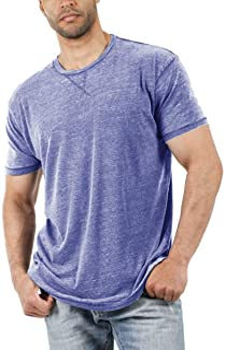 Men's Short Sleeve T-Shirts Casual Crew Neck Tee Shirt Summer Soft Tops