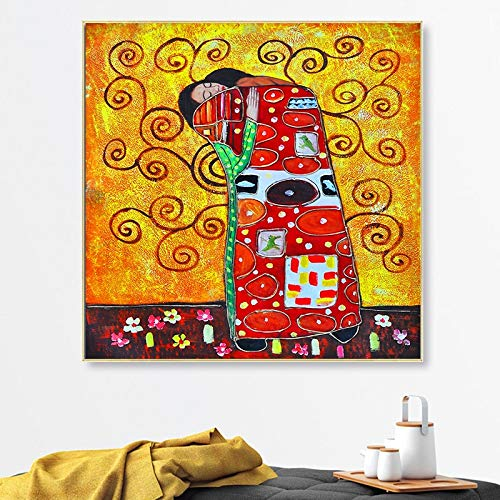 KWzEQ Canvas Painting Famous painting pictures posters and home decorationfor living room50x50cmFrameless painting