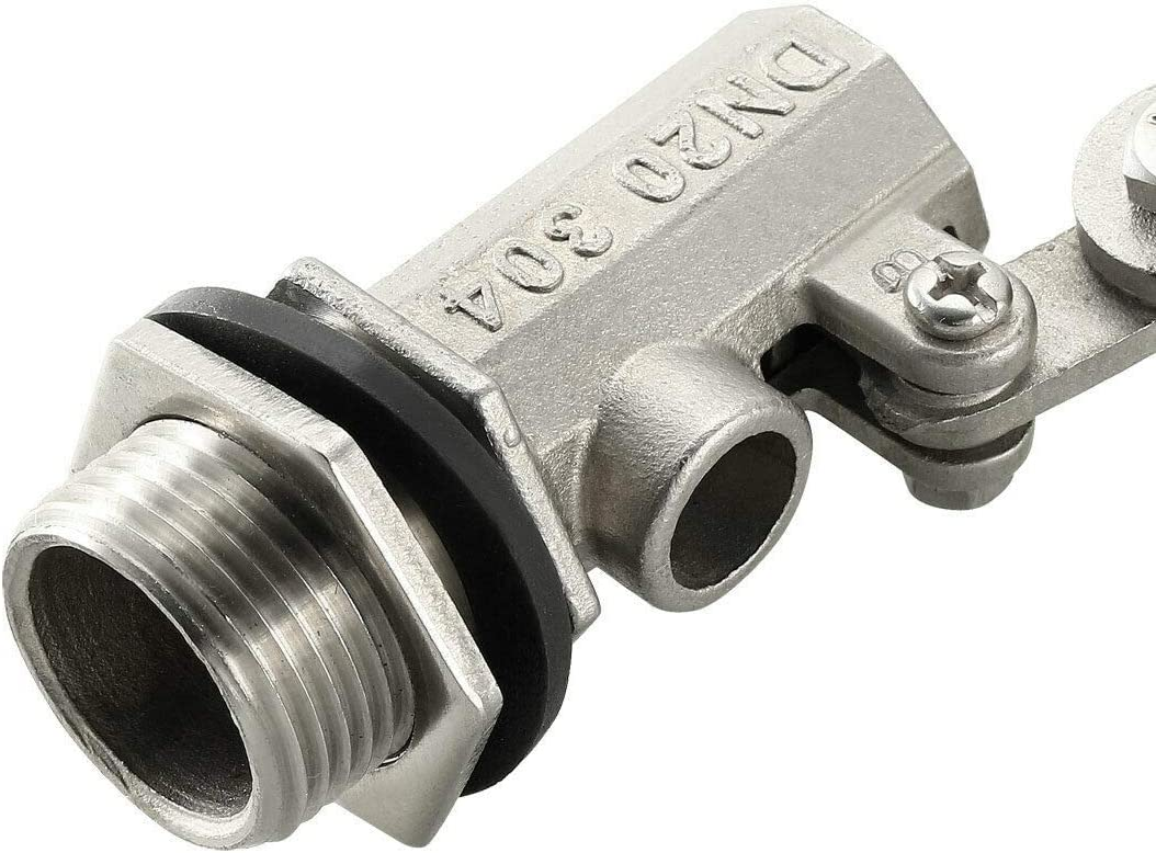 Sisenny 3//4 Inch BSP Floating Ball Valve Male Thread Stainless Steel Automatic Tank Pool Water Level Float Valve