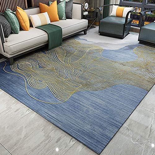 Hogreat Teppiche Teppich Licht Luxus Wohnzimmer Klassische nordische einfache europ?ische Schlafzimmer Schlafzimmer komfortabel, weich und leicht zu reinigen (Gr??e:180 * 260) (Color : 160 * 230)