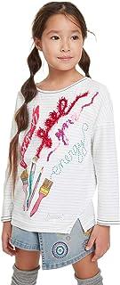14 Anni Bambina Bianco 1000 Desigual T-Shirt Mickey Maglietta a Maniche Lunghe Bianco