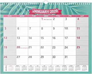 2020 Calendar - 12 Monthly Wall Calendar, Ruled Blocks Perfect for Organizing & Planning for Home or Office, January 2020 - December 2020, 11.5 x 15 Inches, Wire-Bound