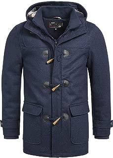 Indicode COLUMBIA Uomo duffle-coat Inverno Cappotto in lana-giacca Cappuccio teddy-fodera