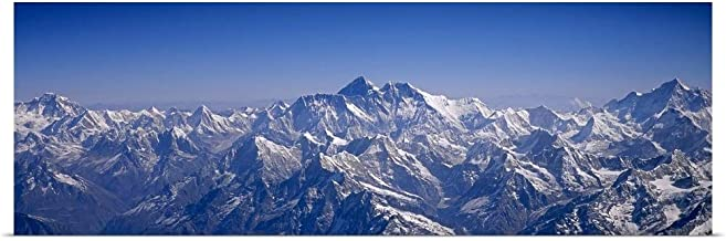 GREATBIGCANVAS Poster Print Entitled Aerial View of a Mountain Range, Himalayas, Kathmandu, Nepal by 48