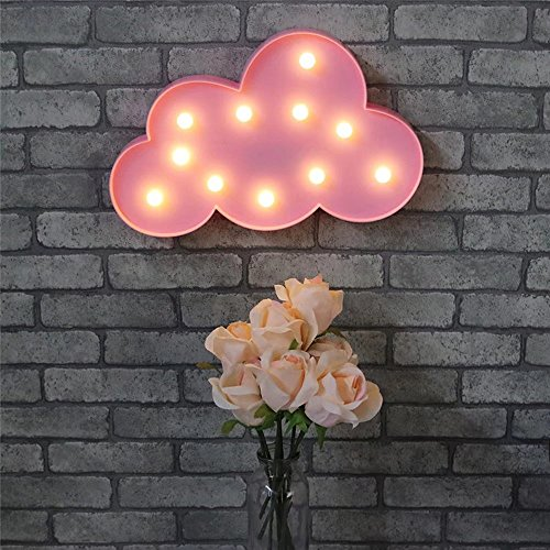 CSKB Cloud Led Marquee Sign Light, Lighted Cloud Sign - Home Decor Nursery Night Lamp Gift, Marquee Signs Letters for Kids