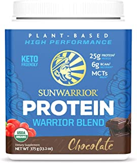 Warrior Blend Organic NonGMO PlantBased Vegan Protein Chocolate (15 Servings)