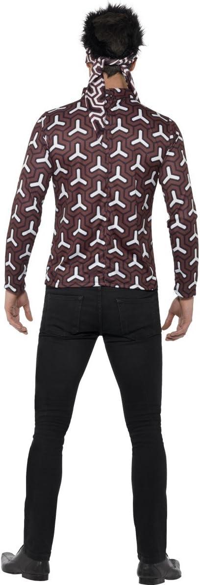 20600 Top /& Bandana with Hair Size: L Smiffys Mens Zoolander Derek Costume Colour: Brown Zoolander