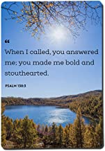 Yilooom When I Called You Answered Me - Bible Verses - Novelty Metal Sign Wall Decor Iron Plaque