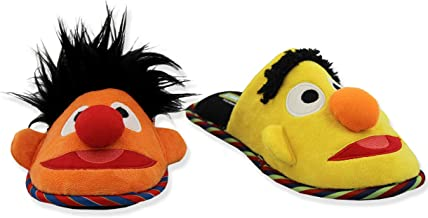 Sesame Street Bert Ernie Mismatched Youth Adult Scuff Slippers