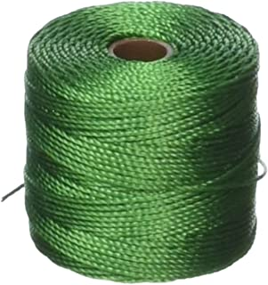 Beadsmith Twisted Nylon Super-Lon Cord, 77 yd/Size 18, Green