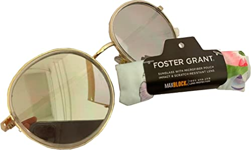 high quality Foster wholesale Grant Round Mirrored Women's Sunglasses with 2021 Microfiber Pouch online