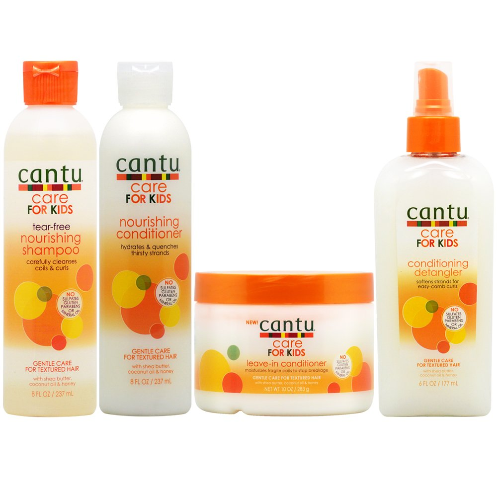 Cantu Care for Kids Shampoo + Conditioner + Leave in Conditioner + ...