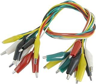 SODIAL(R) 10 x Cable de Prueba Clip de Caiman Aislado